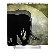 Elephants On Moonlight Walk 2 Shower Curtain
