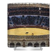 Elevated View Of Bullring Shower Curtain by Axiom Photographic