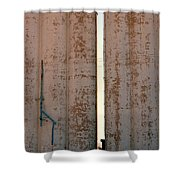 Elevators Blue And White Shower Curtain