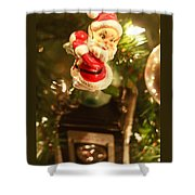 Elf On A Camera Shower Curtain by Toni Hopper