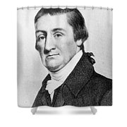 Elias Hasket Derby (1739-1799). American Merchant And Shipowner. Steel Engraving, 19th Century Shower Curtain