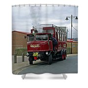 Elizabeth - Steam Bus At Whitby Shower Curtain