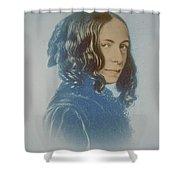 Elizabeth Barrett Browning, English Poet Shower Curtain