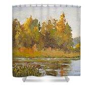 Elk Island 5 Shower Curtain
