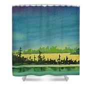 Elk Island Sundown 2 Shower Curtain