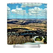 Elk Mountain Ski Resort Shower Curtain
