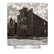 Elkhorn Ghost Town Public Halls 3 - Montana Shower Curtain