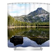 Elkhorn Mountain Reflection Shower Curtain