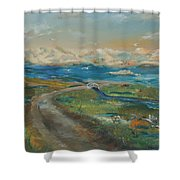 Elkhorn Slough Shower Curtain