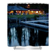 Elkins At Night Shower Curtain