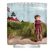 Ella At East Point Light Shower Curtain
