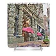 Ellicott Square Building And Hsbc Shower Curtain