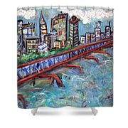 Ellis And Wall Street Shower Curtain