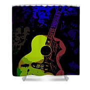 Elvis Gibson J200 Guitar Shower Curtain