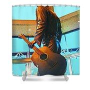 Elvis In Bronze At Memphis Shower Curtain