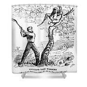 Emancipation Cartoon, 1862 Shower Curtain