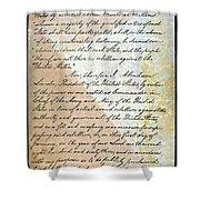 Emancipation Proc., P. 2 Shower Curtain by Granger