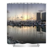 Embarcadero Marina   Shower Curtain