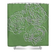 Embossed Roses Shower Curtain by Will Borden