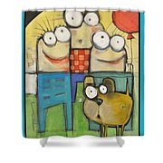 Embrace Your Inner Child Poster Shower Curtain