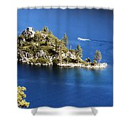 Emerald Bay Lake Tahoe Shower Curtain