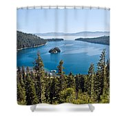 Emerald Bay Morning Shower Curtain