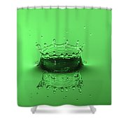 Emerald Crown Shower Curtain