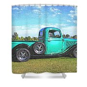 Emerald Green 1936 Ford Pickup Shower Curtain