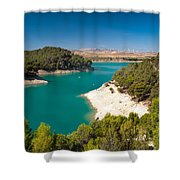 Emerald Lake. El Chorro. Spain Shower Curtain
