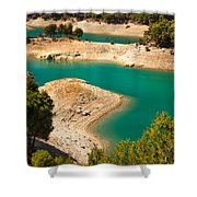 Emerald Lake I. El Chorro. Spain Shower Curtain