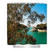 Emerald Lake With Duke House I. El Chorro. Spain Shower Curtain