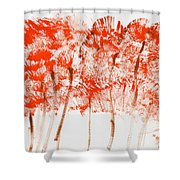 Emerging Fall Shower Curtain