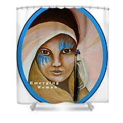 Emerging Woman Shower Curtain