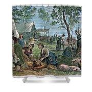 Emigrants: Arkansas, 1874 Shower Curtain by Granger