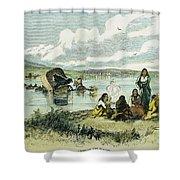 Emigrants In Nebraska, 1859 Shower Curtain by Granger