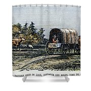 Emigrants To Ohio, 1805 Shower Curtain