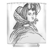 Emily Bront� (1818-1848) Shower Curtain by Granger