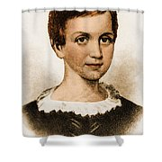 Emily Dickinson, American Poet Shower Curtain by Photo Researchers