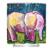 Emily's Elephant 1 Shower Curtain