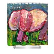 Emily's Elephant 3 Shower Curtain