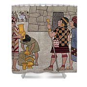 Emissaries Bring Tribute To Inca Shower Curtain