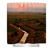 Emmett Sunrise Shower Curtain