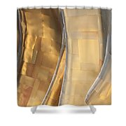 Emp Fools Gold Shower Curtain by Chris Dutton