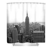 Empire State Building In Black And White Shower Curtain