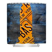 Empire State Building Nyc License Plate Art Shower Curtain