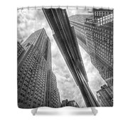 Empire State Reflection Shower Curtain