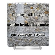 Employee Service Anniversary Thank You Card - Cement Wall Shower Curtain