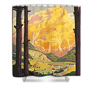 En Tarentaise - Vintage French Travel Shower Curtain