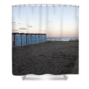 End Of Day - Mondello Beach Shower Curtain