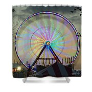 End Of Day With Design Shower Curtain